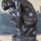 Nude Kneeling Male Bronze Sculpture