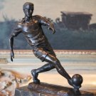 Soccer Athlete World Cup Bronze Sculpture