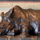 Wildlife Baby Rhino / Rhinoceros Calf Bronze Sculpture