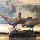 Pheasants Pair Bronze Sculpture