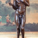 Biblical Adam in the Garden of Eden Nude Bronze Sculpture