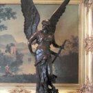 MASSIVE Winged Mythological Goddess Bronze Sculpture