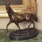 Equestrian Trotting Horse Bronze Sculpture