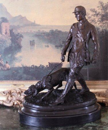 Hunting Pursuit Bronze Sculpture