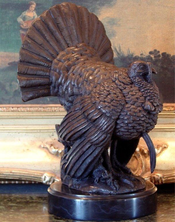 Thanksgiving Turkey Gobble Gobble Bronze Sculpture