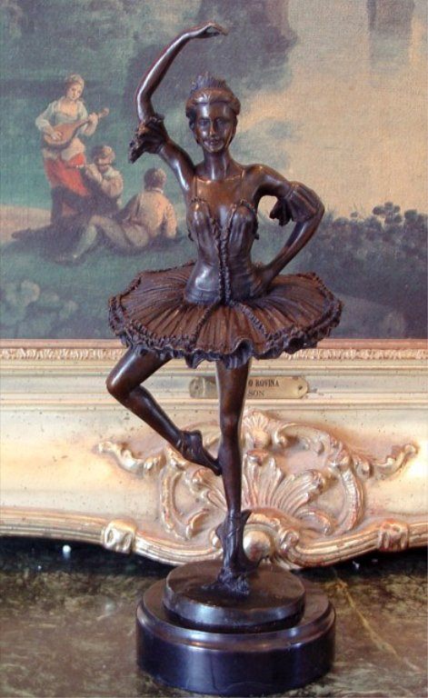Ballerina Ballet Dancer Broadway Bronze Sculpture