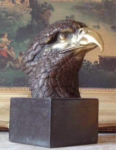 Amerian Eagle Bust Bronze Sculpture