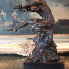 Abstract Nude Male Bronze Sculpture