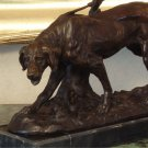 Hunting Retriever Dog Bronze Sculpture