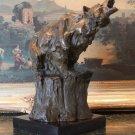 Wildlife Roaring Grizzly Bear Bronze Sculpture