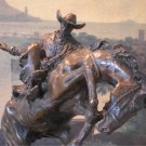 Western Rodeo Cowboy Rider Bronze Sculpture