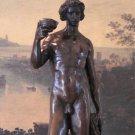 Nude Dionysus Greek God of Wine Bronze Sculpture