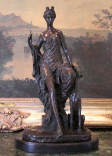 Hecate Mythological Greek Goddess of Wealth Bronze Sculpture