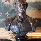 Mark Twain Bronze Bust Sculpture