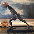 Nude Roman Gladiator Warrior Bronze Sculpture