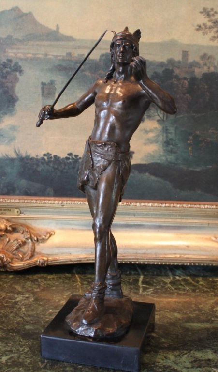 Roman Gladiator Warrior Bronze Sculpture
