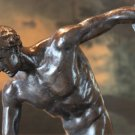 Nude Discobolus of Myron Bronze Sculpture