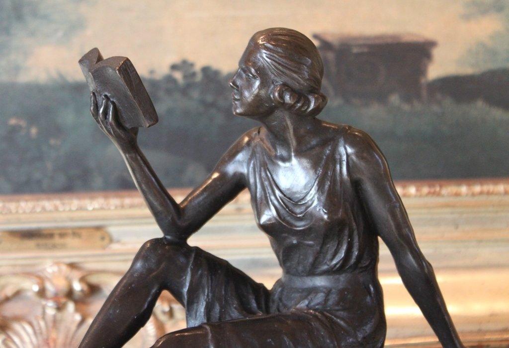 Librarian Bronze Sculpture