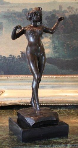 Art Deco Semi-Nude Dancer Bronze Sculpture