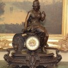 Mythological Goddess Bronze Mantel Clock