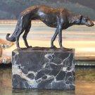 Gorgeous Russian Wolfhound Borzoi Bronze Sculpture