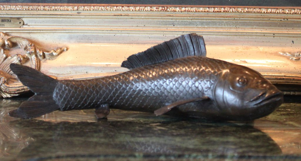 Koi Fish Bronze Sculpture