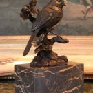 Cardinal Song Bird Bronze Sculpture