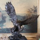 Massive Flying American Eagle Bronze Sculpture