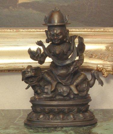 Feng Shui Buddhist Oriental Bronze Sculpture