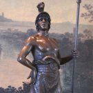 Roman Warrior with Spear Bronze Sculpture