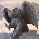Landing Owl Bird of Prey Bronze Sculpture