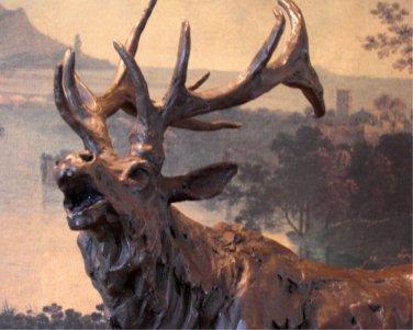 Large Roaring Elk Bronze Sculpture