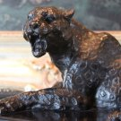 Roaring BigCat Jungle Panther Jaguar Bronze Sculpture