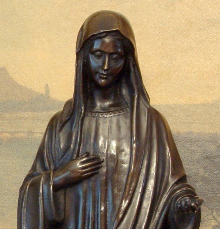 Biblical Madonna, Mother Mary, Bronze Sculpture