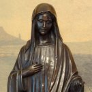 Biblical Madonna, Mother Mary, Bronze Sculpture