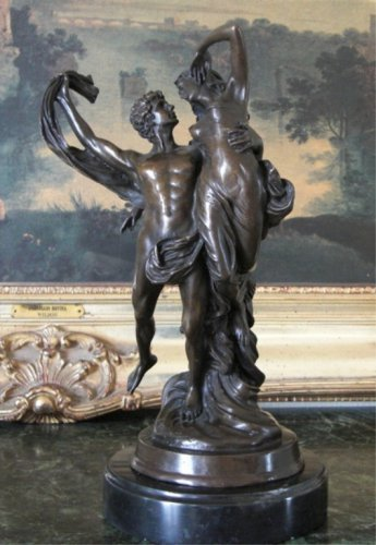 Mythological Lovers Cupid & Psyche Bronze Sculpture