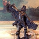 Native American Indian Winged Warrior Bronze Sculpture