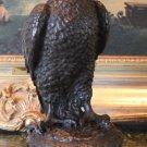 Wildlife Falcon Bird of Prey Bronze Sculpture