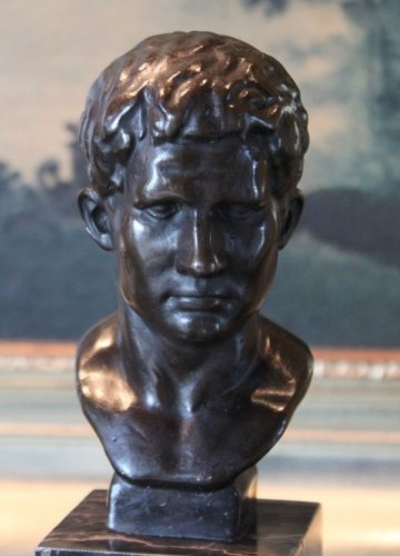 Young Julius Caesar Bust Bronze Sculpture