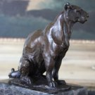 Wildlife Jaguar Panther Bronze Sculpture