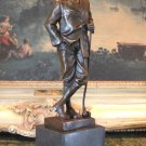 Old Golf Pro Bronze Sculpture