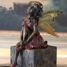 Mythological Sitting Fairy Bronze Sculpture