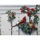Signed Lithograph, Wildlife Cardinal Pair of Birds in the Garden