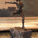 Crossing The Finish Line Marathon Runner Bronze Sculpture