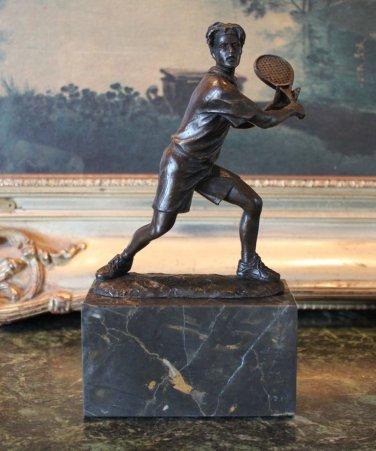 USTA Tennis Athlete Player Bronze Sculpture