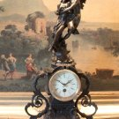 Fairytale Lovers Bronze Mantel Clock
