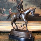 Kentucky Derby Horse Jockey Bronze Sculpture