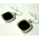 Black and silver fashion drop trendy earrings Free sh/h