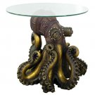Steampunk octopus living room plant flower coffee table statue