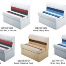 """Wise Pontoon FISHING Boat 36"""" Lounge MARINE Seat WITH STORAGE PICK YOUR COLOR"""